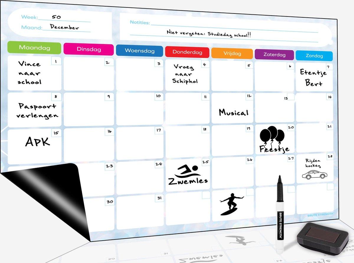 Magnetisch Weekplanner whiteboard (25) - A3 - Planbord - Dagplanner kind  - To Do Planner kinderen