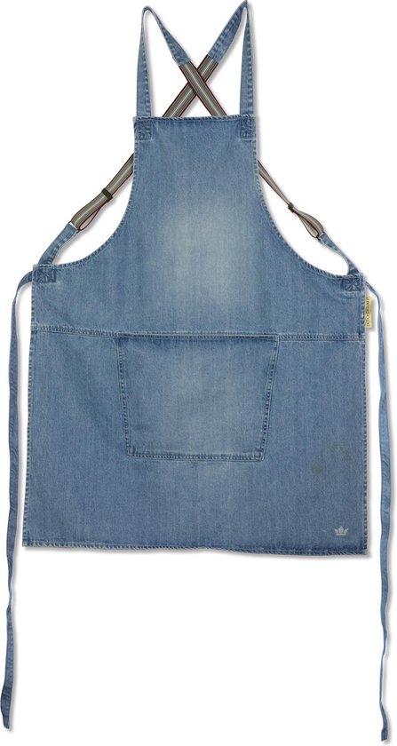 Dutchdeluxes - Denim Suspender Schort - Jeans Blauw