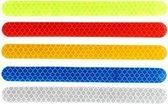Auto Reflecterende Sticker , Waarschuwing Tape, Reflecterende Strips,  Veiligheid Mark,  lang-  Deur en bumper Sticker - set van 2 - Geel