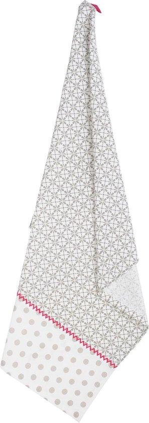 Keukendoek | 50*70 cm | Grijs | 100% Katoen | rechthoek | print | Clayre & Eef | MMLLL42CG