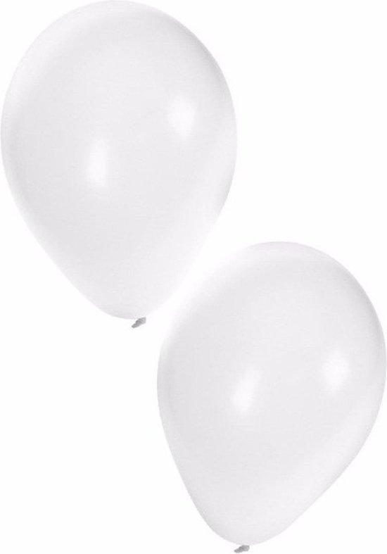 witte ballonnen 100 pc