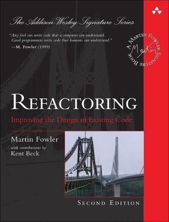 Boek cover Refactoring van Martin Fowler (Hardcover)