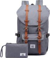 Rayland Rugzak + etui met 15 Inch laptopvak - Rugzak laptop - Rugzak voor school - Rugzak heren - Rugzak vrouwen - Travel bag voor school werk reizen camping - A-Kwaliteit