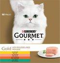 Gourmet Gold Mousse - Kattenvoer Kip, Zalm, Niertjes & Konijn - 48 x 85 g