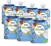 NaturNes® Bio Appel, Granen 6+ mnd knijpfruit biologisch - 6 stuks