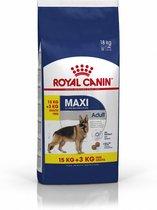 Royal Canin Maxi Adult - Hondenvoer - 15+3 kg Bonu