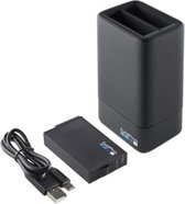 GoPro Dual Battery Charger + Battery - voor GoPro Fusion - Zwart