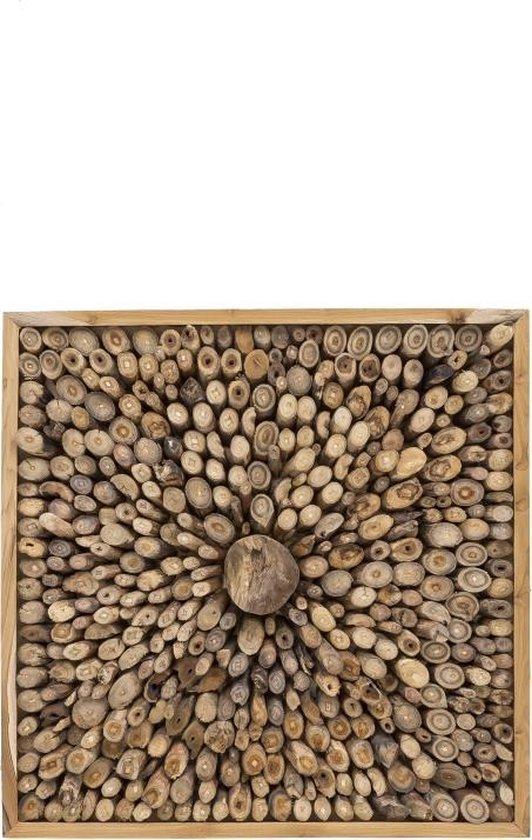 Ongebruikt bol.com | Wanddecoratie hout 70x70 cm teakwortels – Vintage – Duurzaam JF-07
