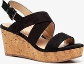 Blue Box dames sleehak sandalen - Zwart - Maat 40