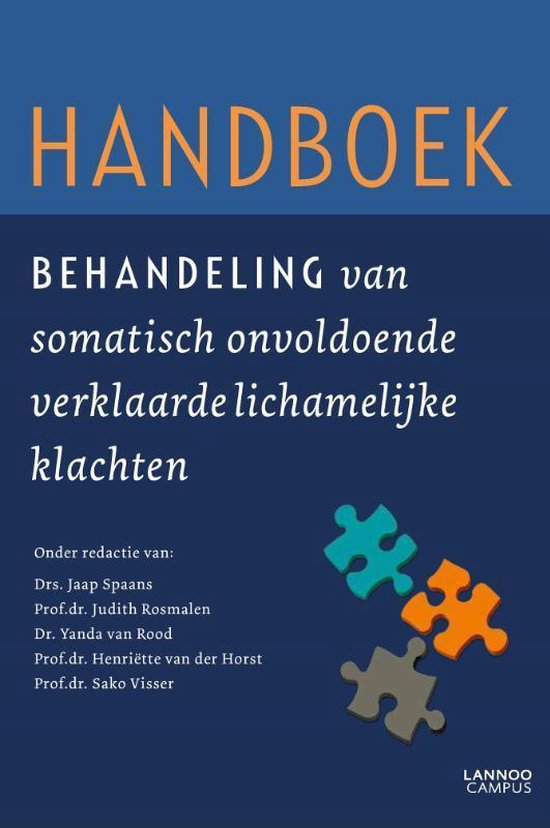 Afbeelding van Handboek behandeling van somatisch onvoldoende verklaarde lichamelijke klachten