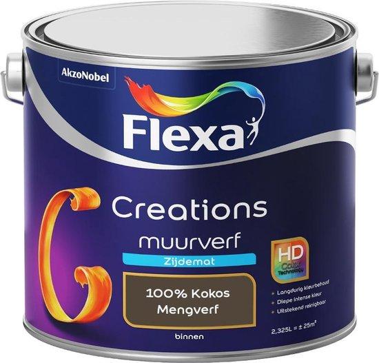 Flexa Creations - Muurverf Zijde Mat - Mengkleuren Collectie - 100% Kokos  - 2,5 liter
