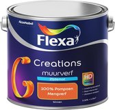 Flexa Creations - Muurverf Zijde Mat - Mengkleuren Collectie - 100% Pompoen  - 2,5 liter