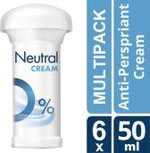 Neutral Parfumvrij - 6 x 50 ml - Deodorant Stick