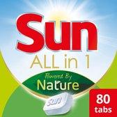 Sun All-In-1 Powered By Nature Eco Vaatwastabletten - 4 x 20 tabletten - Voordeelverpakking