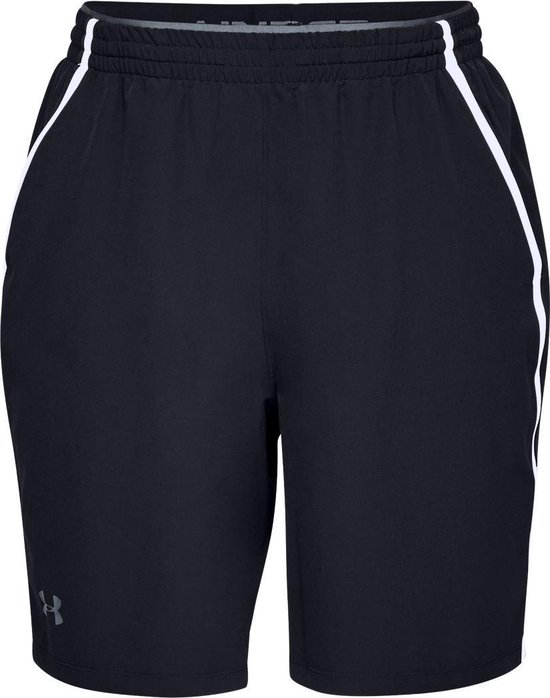 Under Armour Qualifier WG Performance Short Heren Hardloopbroek - Zwart - Maat XL