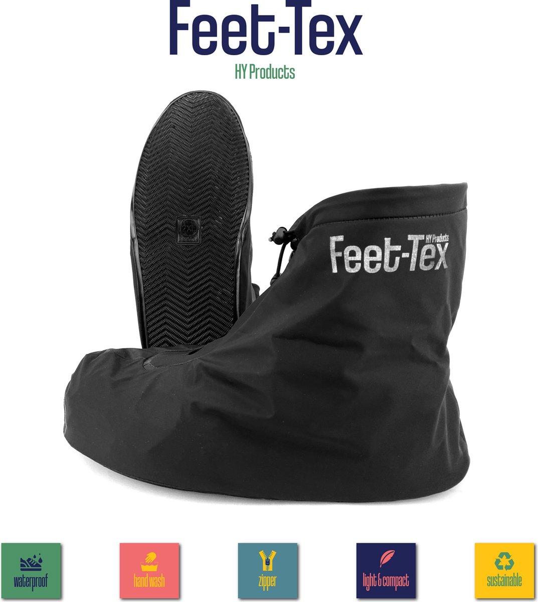 Feet Tex Regen Overschoenen - Duurzaam - Anti Slip - Waterdicht