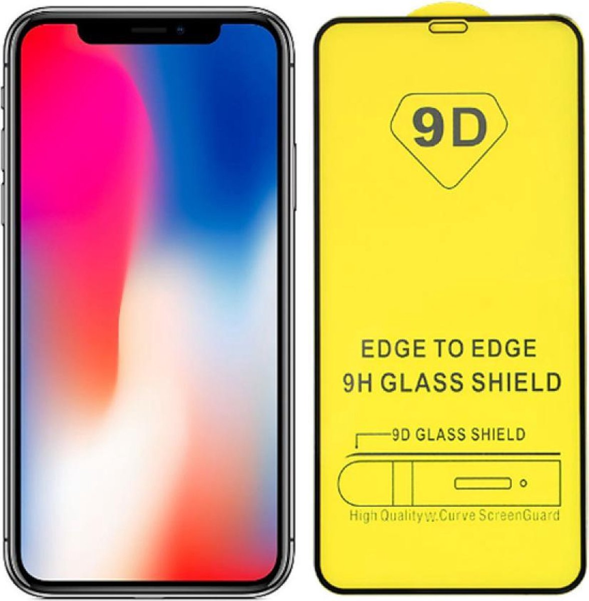 screenprotector beschermings glas Full Cover 9D Extra Sterk voor Apple iPhone X/XS iPhone 11 Pro Screenprotector Beschermglas Glazen bescherming voor iPhone X/XS/11pro