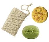 Yoga Voordeelpakket | Shampoo Bar + Conditioner Bar | Gratis Zeepzakje | Stichting Trees For All | 140ml