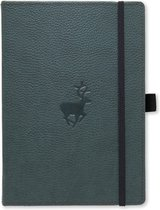 Dingbats A5+ Wildlife Green Deer Notebook - Dotted