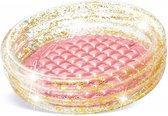 Intex Baby zwembad - Roze - Glitter - 86 x 25 cm - opblaasbaar zwembad - rond - drie ringen