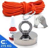 Magfishion® Magneetvissen Set - 275 KG - 20m Touw