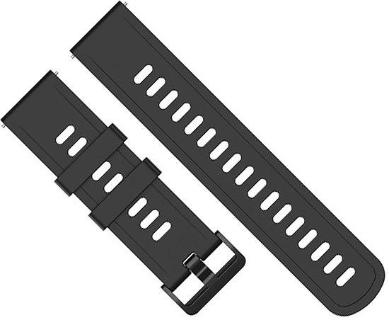 Horlogeband van Siliconen voor Suunto Spartan Sport / Sport HR / Traverse | 24 mm | Horloge Band - Horlogebandjes | Zwart