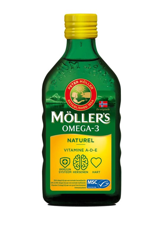 Moller's Omega-3 Naturel - 250 ml - Visolie - Visolie - Voedingssupplement