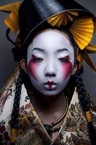 Luxe Wanddecoratie - Foto - Plexiglas & Dibond - UV Filter - Aluminium Ophangsysteem - Geisha