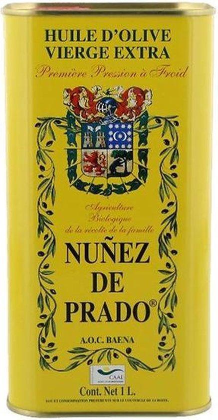 Nunez De Prado Olijfolie Extra Vierge Bio Blik 1 Liter