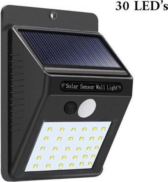 Automatische Solar Led Buitenlamp op zonne-energie met bewegingssensor en 30 LED's