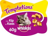 Whiskas Temptations kip en kaas 60g 1x8