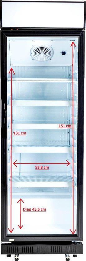 Koelkast: Exquisit ELDC400.2XL - Horeca koelkast - Glazen deur, van het merk Exquisit