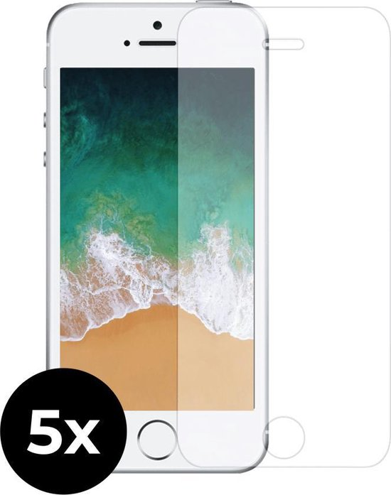 5x Tempered Glass screenprotector -  iPhone 5c