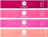 Gymston Weerstandsbanden Set - 4 stuks - Incl. Draagtas en E-Book & Handleiding – Premium Vrouwen Set - Elastiek Fitness band – Fitness banden - Fitness Elastieken, Resistance  Band Set , Gymnastiekband , Trainingsbanden Limited Edition