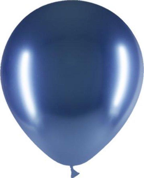 Blauwe Ballonnen Chroom 30cm 10 stuks