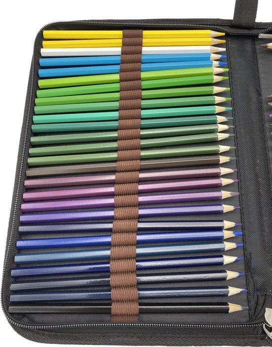 4artz® set van 48 aquarel potloden in etui - met puntenslijper