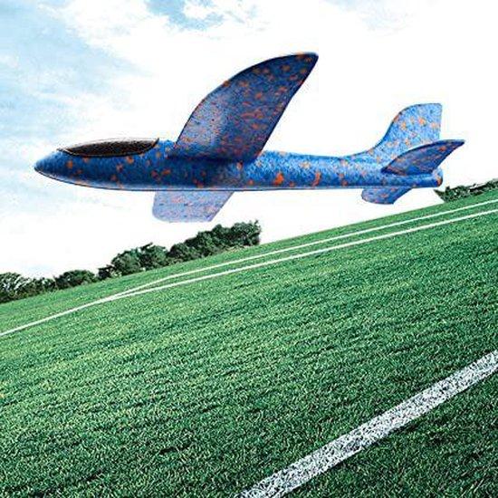 Zweefvliegtuig wegwerp blauw XL | EXTRA GROOT |  speelgoed vliegtuig | vliegtuig kinderen | Buitenspeelgoed vliegtuig | foam vliegtuig