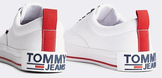 Tommy Hilfiger Essential Sneakers - Maat 39 - Vrouwen - wit/navy/rood GKUpRqgH