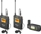Saramonic UwMic9 Kit8 TX9+TX9+RX-XLR9 draadloze camera set met 2 zenders