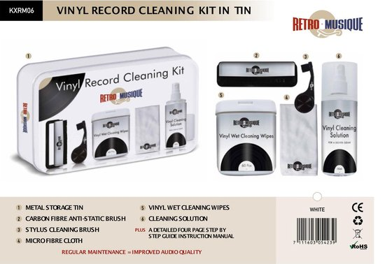 Vinyl Record Cleaning Kit DELUXE