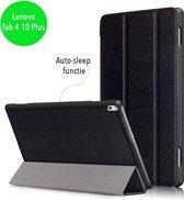 3-Vouw sleepcover hoes - Lenovo Tab 4 10 Plus - zwart