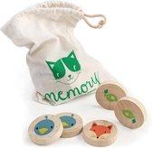 Tender Toys Memo Slimme Kat Hout Junior 21-delig