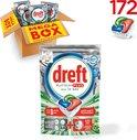 Dreft Platinum Plus Cool Blue - Kwartaalbox 4x43 Stuks - Vaatwastabletten