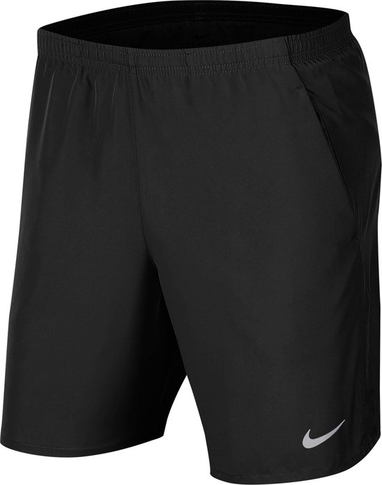 Nike Nk Run Short 7In Bf Sportbroek Heren - Black/Reflective Silv - Maat S