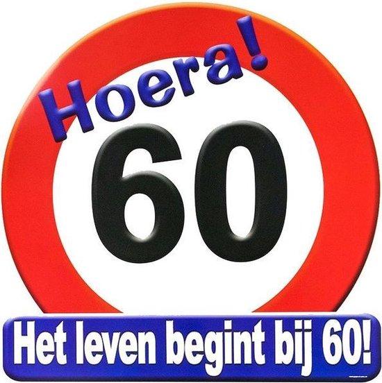 Hulde stopbord decoratie 60 jaar - verjaardag - cadeau/versiering