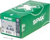Spax Spaanplaatschroef platverzonken kop verzinkt pozidriv deeldraad 4.0x40mm (per 1000 stuks)