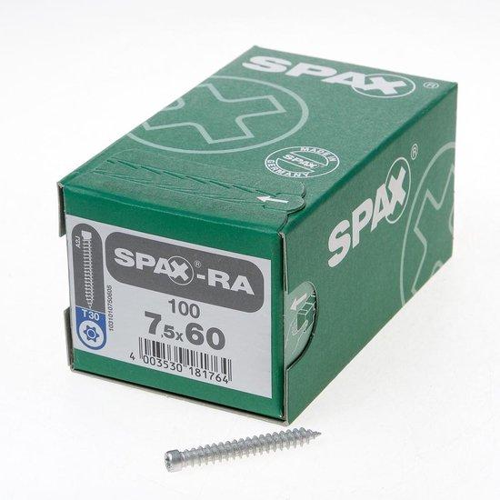 Spax-RA Kozijnschroeven torx cilinderkop T30 7.5 x 60mm