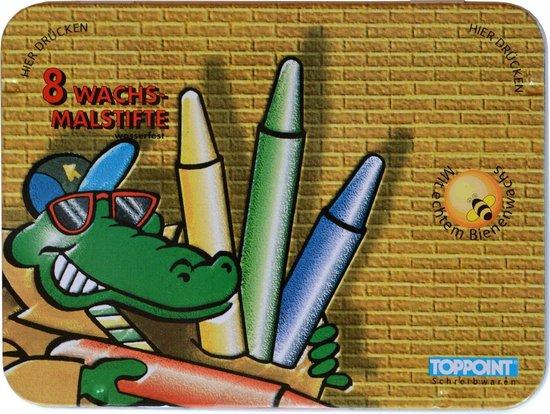 Wasco set 8 kleuren krijtjes waskrijt waspastels