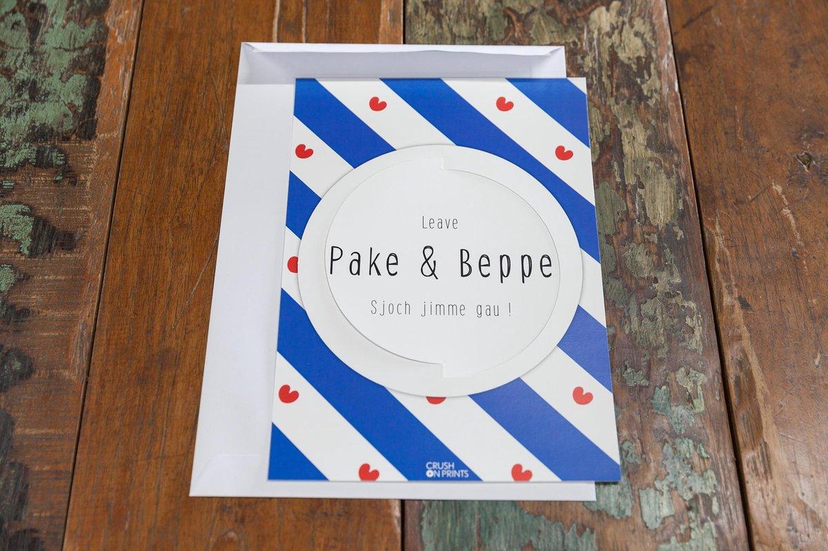 Bol Com Kleurkaart Kleurplaat Met Envelop Pake En Beppe Pompebleden