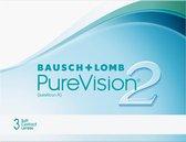 +1,00 - PureVision®2 - 3 pack - Maandlenzen - Contactlenzen